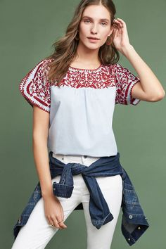 Chloe Oliver Tillie Embroidered Blouse