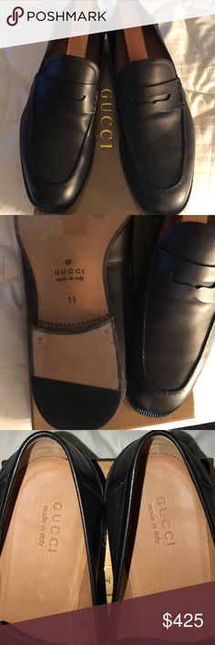Gucci Men's 11 Italy/US 12 95% NEW !! Worn once , the leather is thick but soft and fits the foot perfectly, no damage at all, soles have a few scratches, but you will be in awe of the quality and comfort Gucci Shoes Loafers & Slip-Ons