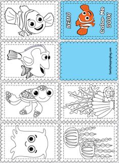 Coloring Book, Finding Nemo, Coloring Pages - Free Printable