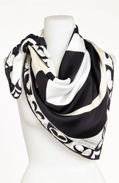 Emilio Pucci 'Ying Yang Timeless' Silk Scarf available at #Nordstrom.