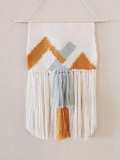 Tissé de tapisserie / montagnes (fabriqués sur commande) / main tissé Tenture murale