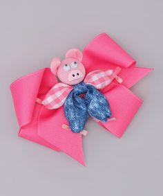 haha! little pig hair bow!