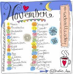 Studio Ann: Doodle a Day: November #sadoodleaday