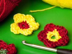 Geben Sie Taschen, Mützen oder Pullovern eine ganz individuelle Note und verzieren Sie Ihre Lieblingsstücke mit einer süßen Häkelblüte. Häkeln macht so viel Spaß und ist mit Hilfe unserer Tipps kinderleicht. Häkeln Sie die Blüte nach unserer Step-by-Step-Anleitung. http://www.fuersie.de/stricken/haekeln/galerie/anleitung-haekelblume