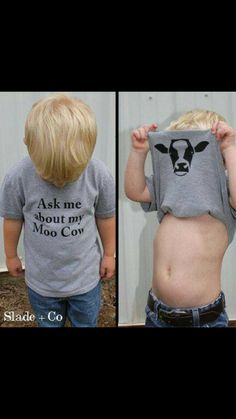 Ask me about my moo cow shirt - Animal Shirt - Funny Shirts - Kids Children Toddler Youth Sizes - Baby stuff - WomenFunny Baby Outfits, Kids Outfits, Baby Boys, Toddler Boys, Kids Boys, Baby Boy Country, Baby Names Boy, Baby Boy Style, Cute Kids