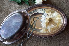 Vintage Wm A Rogers Silverplate Oval by UpcycledCottageDecor