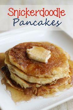 Snickerdoodle Pancakes | Breakfast for Dinner | Kid's Favorite | This Mama Loves #pancakes #snickerdoole #breakfast
