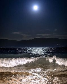 MOONLIGHT beach wave ocean amazing