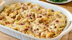 Chicken-Bacon-Ranch Baked Penne