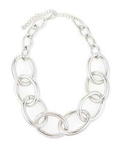 Chain-Link Necklace by Kenneth Jay Lane at Last Call by Neiman Marcus.