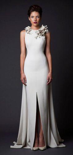Featured Dress: Krikor Jabotian; Wedding dress idea.