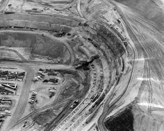 Dodger Stadium under construction, 1961.