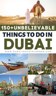 Planning a trip to Dubai, or even just a short stopover in the UAE? Make this your first resource, an absolute bumper list of 150+ things to see and do visiting Dubai.  Includes the city's main attractions, museums, cultural sites, free things to do and getting beyond the city of Dubai to explore the 7 Emirates of the UAE. Dubai travel planning starts here. Dubai Places To Visit, Visit Dubai, Cool Places To Visit, Places To Go, Dubai Vacation, Dubai Travel, Asia Travel, Dubai Attractions, Jordan Travel