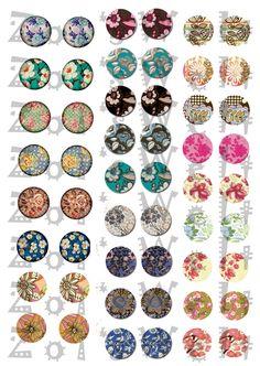 Instant download 2, Digitale Vorlage für Cabochons von Zoi's Welt auf DaWanda.com