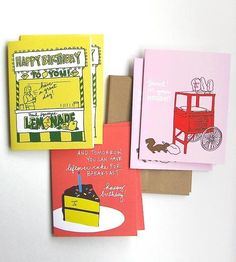 Now here's a novelty you don't see so often: a birthday card that smells just like what it looks like. They're a throwback to those stickers, you know, those scratch and sniff ones you traded on the playground.