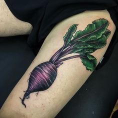 Beet up on Matthieu tonight for a few hours. There is a cover up in there somewhere... #justbeetit #hesgotthebeet #thebeetgoeson #badpuns  Made with @pride_tattoo_needles @eternalink and @stencilstuff #coloradotattoo #denver #denvertattoo #pridetattooneedles #phucstyxtattoosupply #neotraditional #beet #tattoo #tattoos #303 #colfax #clfx #vegetables by westhanded