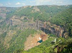 Cherrapunji waterfall, Meghalaya, India trueworldtravels.com