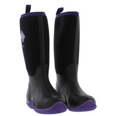 Muck Boots Welly Boots, Womens Hale Waterproof Black Hot Pink ...