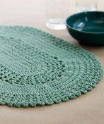 free placemat crochet pattern   Red Heart Yarn Free Knitting Patterns and Free Crochet Patterns
