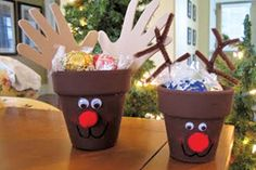Reindeer Clay Pot Craft | what you need terra cotta clay pot or plastic plant pot medium brown ...