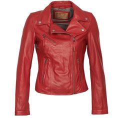 Kožené+bundy+/+imitace+kůže+Oakwood+60958+Červená+3911.00+Kč