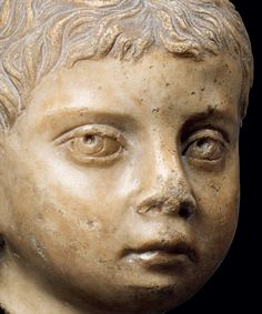 ROMAN MARBLE PORTRAIT HEAD  OF A YOUNG BOY  Antonine, 138-193 AD