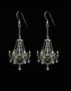 Sterling Silver Chandelier Earrings by MetalCoutureJewelry on Etsy. , via Etsy. Beads Jewelry, Jewelry Box, Silver Jewelry, Jewelry Accessories, Fine Jewelry, Jewelry Design, Jewelry Making, Unique Jewelry, Jewlery