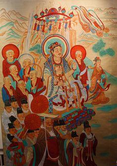 Manjushri debates with Vimalakirti, Mogao caves, Dunhuang.