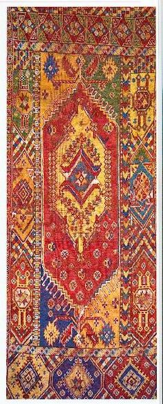 "Rabat rug - early 19th century, 1.61 x 4.00 m (5'3"" x 13'1"")"