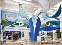 the olympic store Exhibition Booth Design, Exhibition Display, Exhibit Design, Temporary Architecture, Architecture Design, Architecture People, Window Display Design, Stage Design, Creative Advertising