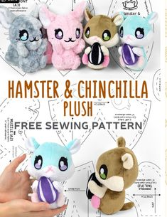 Sock Animals, Plush Animals, Cute Crafts, Felt Crafts, Sewing Toys, Sewing Crafts, Sleepover Activities, Sewing Stuffed Animals, Plush Pattern