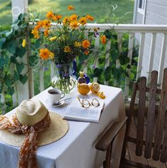 afternoon respite on the porch Outdoor Spaces, Outdoor Living, Outdoor Decor, Porches, Pergola, Peach Trees, Orange Blossom, Simple Pleasures, Country Living