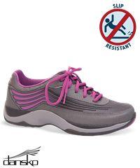 Dansko Shayla Charcoal/Berry Athletic Shoe    Style #  SHAYLACB #nursingshoes #shoes