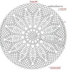 29 New Ideas crochet basket chart knitting patterns Free Crochet Doily Patterns, Crochet Doily Diagram, Crochet Motif, Crochet Chart, Crochet Stitches, Knitting Patterns, Knit Crochet, Crochet Round, Crochet Home