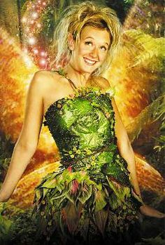 """The details and coloring of her dress is interesting. Tinkerbell from the 2003 """"Peter Pan"""" movie."""