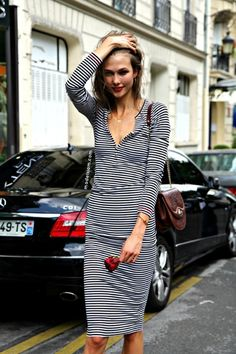 Consider the shape of a stripe dress, the styling needs to flatter your body shape. www.stylestaples.com.au