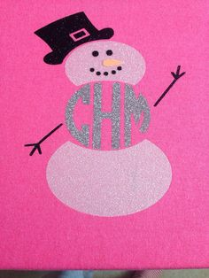 Snowman monogram shirt by TheMonogrammedWhale on Etsy