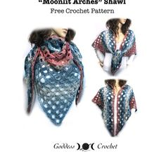 Moonlit Arches Shawl - Free Crochet Pattern
