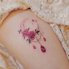 Rose Tattoos, Sexy Tattoos, Unique Tattoos, Body Art Tattoos, Small Tattoos, Tatoos, Unique Friendship Tattoos, Hp Tattoo, Arabic Tattoos