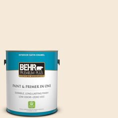 BEHR Premium Plus 1-gal. #ecc-13-2 Quiet Shore Zero VOC Satin Enamel Interior Paint