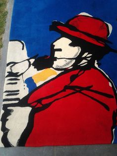 Auctioned off through Catawiki: Herman Brood (after), wool carpet 230 x 170cm