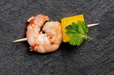 Thai ginger-cured prawns with mango - Tesco Real Food