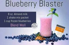 8 oz Almond Milk, 1 Pack/Scoop Thrive Lifestyle Mix (Vanilla or Strawberry), 1 Cup Frozen Blueberries, Blend Well and Enjoy! Breakfast Smoothies, Fruit Smoothies, Healthy Smoothies, Strawberry Shake Recipe, Strawberry Recipes, Thrive Shake Recipes, Thrive Life, Level Thrive, Thrive Le Vel