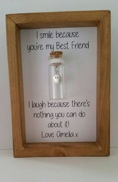 Best friend gift by Undertheblossomtree.com Best friend quotes. Funny gifts for friends. #bestfriendgifts