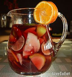 Mango and Apple Sangria     1 Bottle red wine   1 to one and half cups 7 Up or Sprite   5 medium sized limes   7 tablespoons sugar   1 each mango/apple