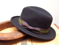 Chocolate Brown Fur Felt Fedora Hat / Mens hat by humperdinckhats, $189.00