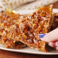 Bourbon Bacon Brittle - No-Bake Desserts - Desserts - Dessert Recipes Bacon Recipes, Candy Recipes, Appetizer Recipes, Sweet Recipes, Holiday Recipes, Snack Recipes, Dessert Recipes, Cooking Recipes, Snacks