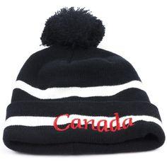 0872090dc7d Unisex Adult Black   White Canada Pom Pom Toque Winter Hat Ski Hat New NWT…