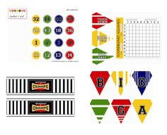 FREEBIE Printables: Big Game Day, Super Bowl Party by Bird's Party