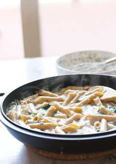 Vegan alfredo spinach pasta recipe it is all in one pan, not to mention it is perfect for the everyday simple vegan meal.